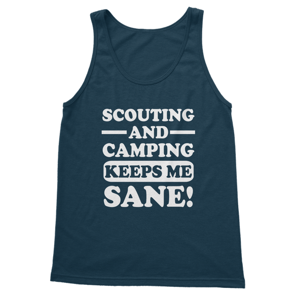 Scouting And Camping Keeps Me Sane Classic Adult Tank Top
