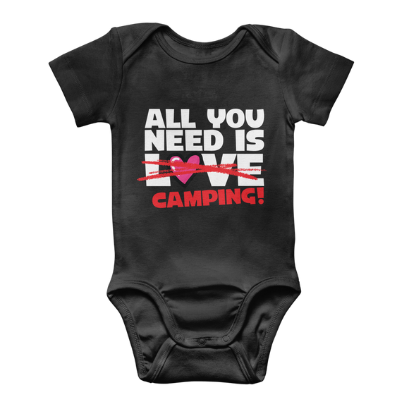 All You Need is Love No Camping! Classic Baby Onesie Bodysuit