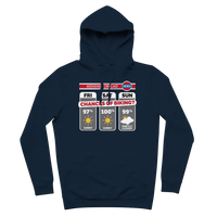 Weekend Weather Sunny With a Chance of Biking? Premium Adult Hoodie