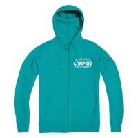 If She Loves Camping She's a Keeper! Premium Adult Zip Hoodie