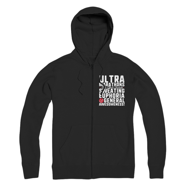 Marathon Side Effects Include Sweating, Euphoria and General Awesomeness Premium Adult Zip Hoodie