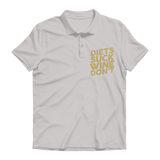 Diets Suck Wine Don't Premium Adult Polo Shirt