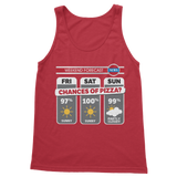 Weekend Weather Sunny With a Chance of Pizza? Classic Adult Tank Top