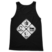 Eat, Sleep, Fish, Repeat Classic Women's Tank Top