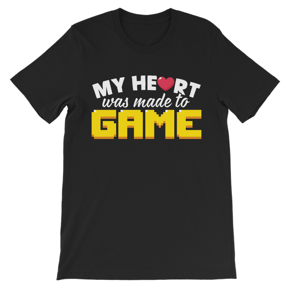 My Heart Was Made To Game Premium Kids T-Shirt