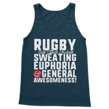 Rugby Side Effects Include Sweating, Euphoria and General Awesomeness Classic Women's Tank Top