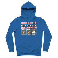 Weekend Weather Sunny With a Chance of Reading? Premium Adult Hoodie