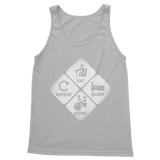 Eat, Sleep, Bowl, Repeat Classic Adult Tank Top