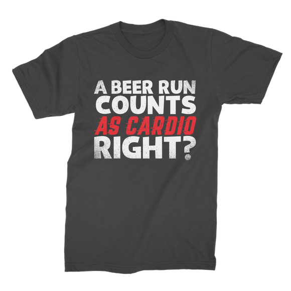 A Beer Run Counts As Cardio Right? Premium Jersey Men's T-Shirt