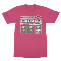 Weekend Weather Sunny With a Chance of Camping? Classic Adult T-Shirt