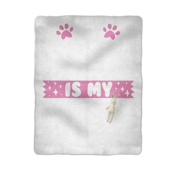 My Golden Retriever is My BFF Sublimation Baby Blanket