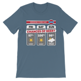 Weekend Weather Sunny With a Chance of Beer? Classic Kids T-Shirt