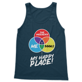 Books is My Happy Place Classic Adult Tank Top