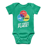 Books is My Happy Place Classic Baby Onesie Bodysuit