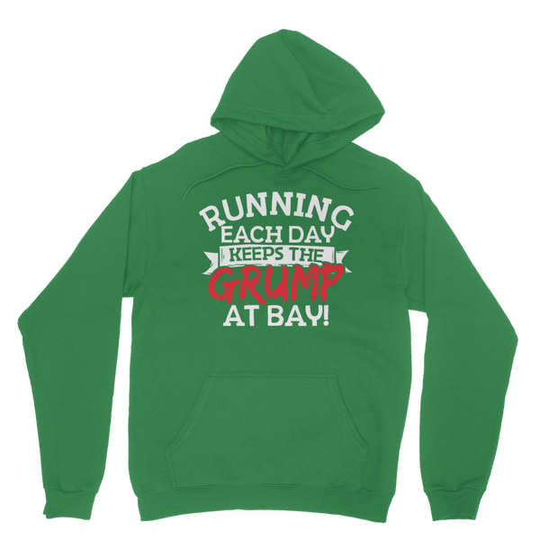 Running Each Day Keeps The Grump At Bay Classic Adult Hoodie