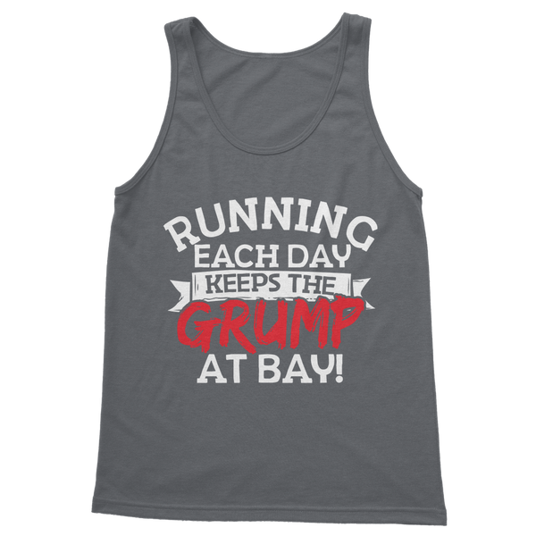 Running Each Day Keeps The Grump At Bay Classic Adult Tank Top