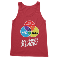 Beer is My Happy Place Classic Women's Tank Top