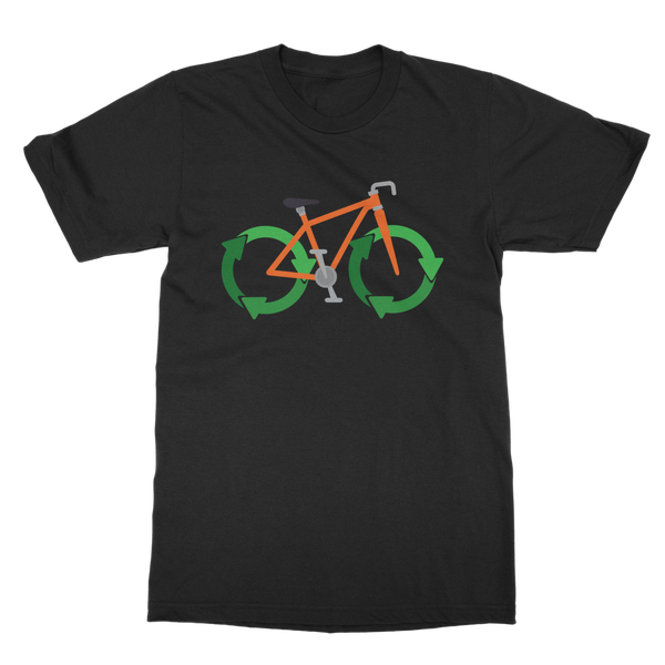 Green Bike Classic Adult T-Shirt