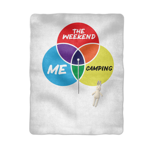 Camping is My Happy Place Sublimation Baby Blanket