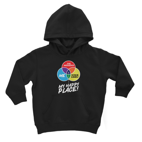 Video Games is My Happy Place Classic Kids Hoodie