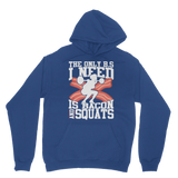 Bacon And Squats Female Classic Adult Hoodie