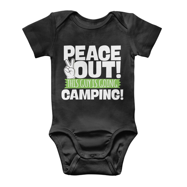 Peace Out This Guy is Going Camping! Classic Baby Onesie Bodysuit