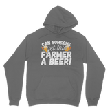 Can Someone Get This Farmer a Beer! Classic Adult Hoodie