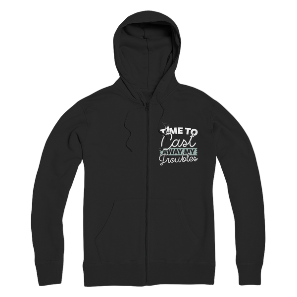 Time To Cast Away My Troubles Premium Adult Zip Hoodie