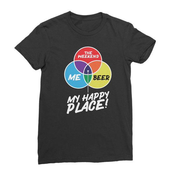 Beer is My Happy Place Classic Women's T-Shirt