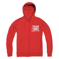 Scuba Driving is More Than Just a Hobby Premium Adult Zip Hoodie