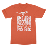 Run Like You Are Trapped In A Dinosaur Park Classic Adult T-Shirt