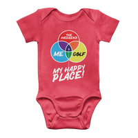 Golf is My Happy Place Classic Baby Onesie Bodysuit