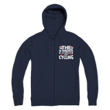The Weekends Were Made For Cycling Premium Adult Zip Hoodie
