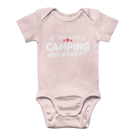 If She Loves Camping She's a Keeper! Classic Baby Onesie Bodysuit
