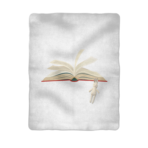 Skip the Movie Read the Book Sublimation Baby Blanket