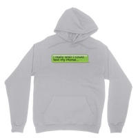 I Really Wish I Could Text my Horse Classic Adult Hoodie