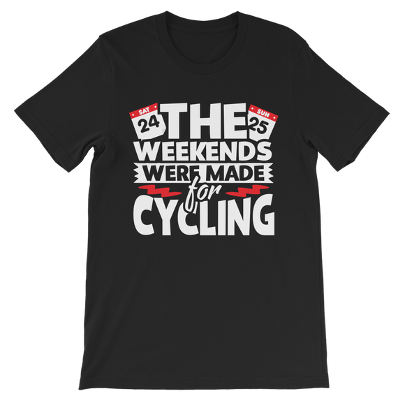 The Weekends Were Made For Cycling Classic Kids T-Shirt