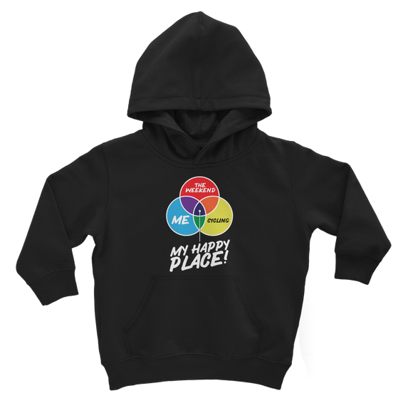 Cycling is My Happy Place Classic Kids Hoodie
