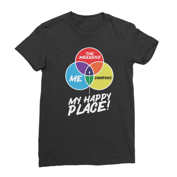Camping is My Happy Place Classic Women's T-Shirt