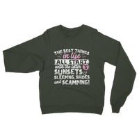 All The Best Things in Life Start With The Letter S - Camping T-Shirt Classic Adult Sweatshirt