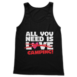All You Need is Love No Camping! Classic Adult Tank Top
