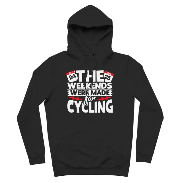 The Weekends Were Made For Cycling Premium Adult Hoodie