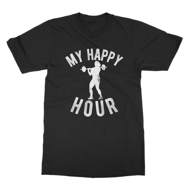My Happy Hour Female Weightlifting Classic Adult T-Shirt