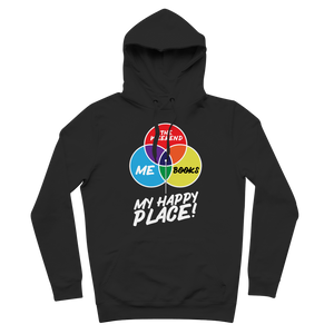Books is My Happy Place Premium Adult Hoodie
