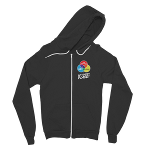 Cycling is My Happy Place Classic Adult Zip Hoodie