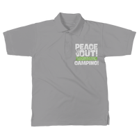 Peace Out This Guy is Going Camping! Classic Women's Polo Shirt