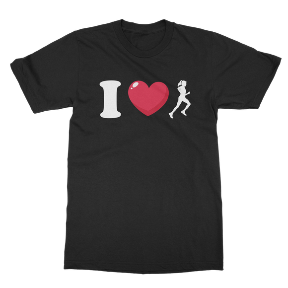 I Love Running Female Runner Classic Adult T-Shirt
