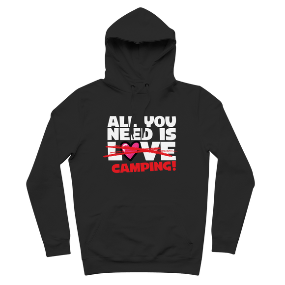 All You Need is Love No Camping! Premium Adult Hoodie