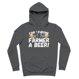 Can Someone Get This Farmer a Beer! Premium Adult Hoodie