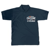 I Convert Caffeine into Cycling Classic Adult Polo Shirt